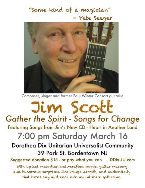 Acclaimed musician Jim Scott performs songs about safeguarding the environment and creating a culture of peace.